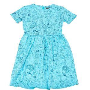 NEW DISNEY PRINCESS Blue DRESS - Size 1x/2XL